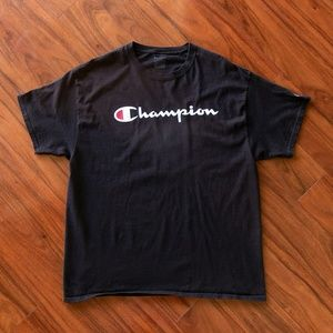 Champion Spellout Logo Tee FLAWED